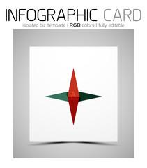 Geometric shape infographic business card