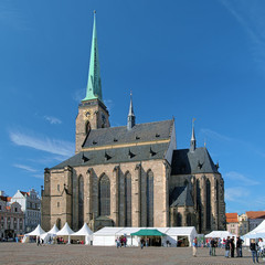 Cathedral of St. Bartholomew in Plzen, Czech Republic