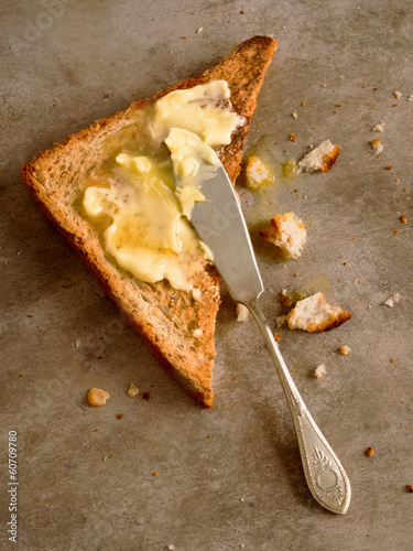 Fotobehang Brood toasted butter