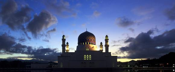 Kota Kinabalu city mosque at Sabah, Borneo, Malaysia