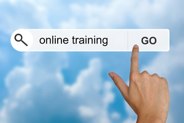 online training on search toolbar