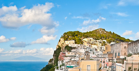 the architecture of Capri island