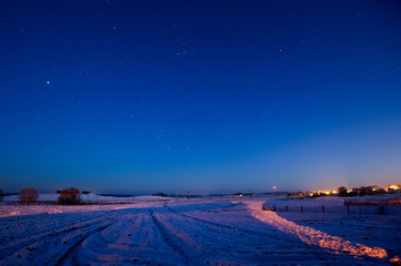 Starry night in Lithuania