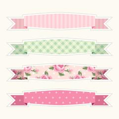 Retro ribbons set 3