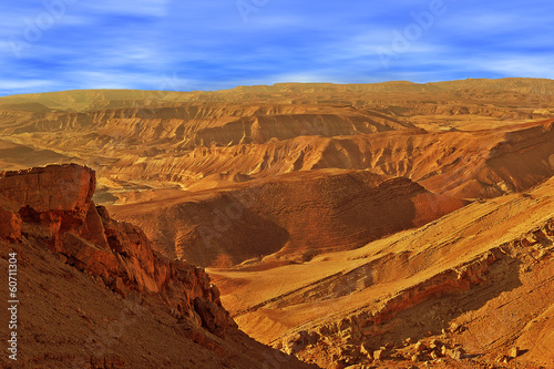 Hills and mountains in Arava desert.