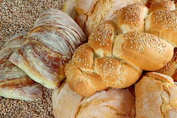 Composizione di pane vario