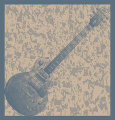 Solid Grunge Electric Guitar