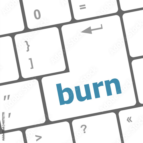 Computer keyboard with burn key. business concept