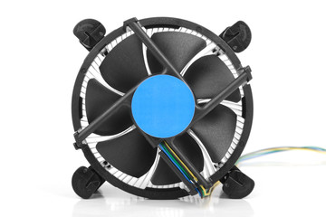 CPU cooler isolated on white background