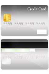 Front and back credit card template