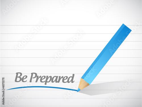 be prepared message illustration design