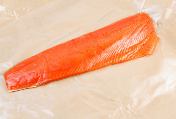 Fillet of Wild Sockeye Salmon in Wax Paper