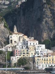 Italie - Campanie - Amalfi, vue de la mer