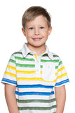 Young boy in striped shirt