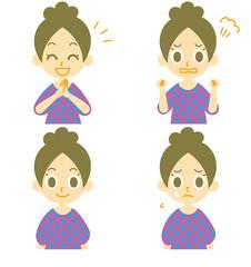 女性の表情 怒り 悲しみ 喜び 発見