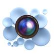 Photographic blue background