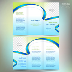 brochure ribbon element band wave line