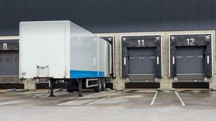 Distribution centre loading trucks