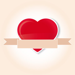 corazon con etiqueta