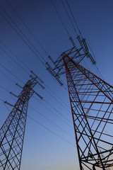 High voltage pylons