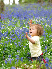 Pretty Infant In Flowers