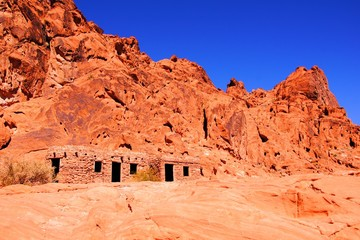 Vibrant red rocks, Valley of Fire State Park, Nevada, USA