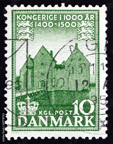 Postage stamp Denmark 1954 Manor House, Spottrup