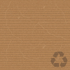 cardboard with recycling