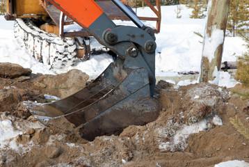 Bucket hydraulic excavator