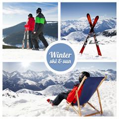 Winter ski and sun