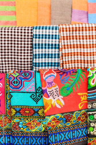 Pattern of Local Colorful Clothes, Laos