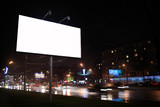 Empty billboard, by night
