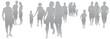 Set Menschen - silhouette - grau - vektor