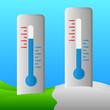 Obrazy na płótnie, fototapety, zdjęcia, fotoobrazy drukowane : termometry temperatura dodatnia i ujemna