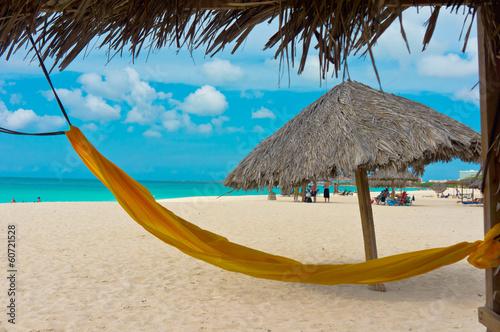 Tuinposter Caraïben Beautiful beach in Aruba, Caribbean Islands, Lesser Antilles