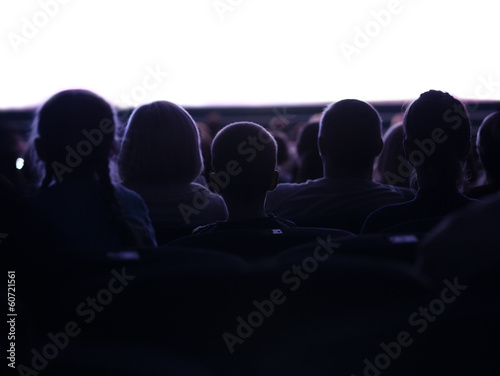 People watching cinema