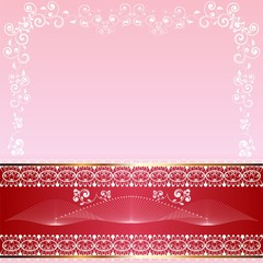 Abstract background with ornaments