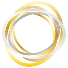 Kreis - abstrakte Ringe - Metall - Gold - Silber