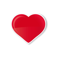 corazon rojo aislado