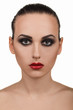 Portrait of girl with make-up step by step. Step 9.