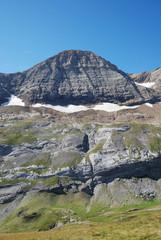 Popular mountain Taillon in summer.