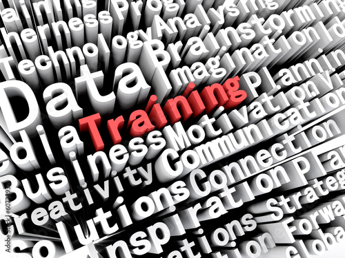 Training Business Words Concept