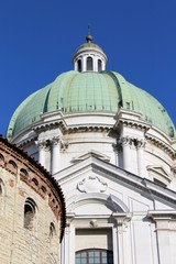 detail of the two cathedrals, brescia