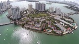 Aerial footage of Belle Isle Miami Beach