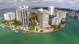 Belle Isle Miami Beach aerial video