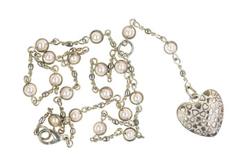 Heart shaped locket on a silver chain