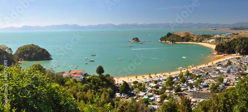 Canvas Nieuw Zeeland Kaiteriteri Camp & Beach Panorama, New Zealand