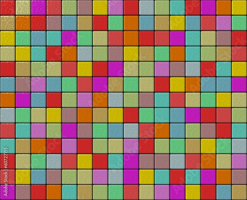 Small tiles granular mosaic with different colors