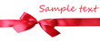 Color gift satin ribbon bow, isolated on white