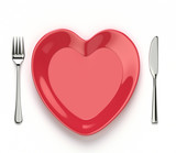 Heart shaped dish